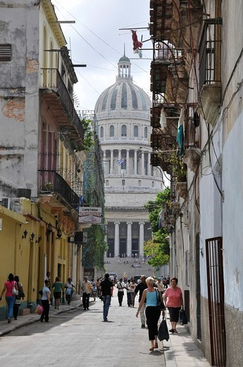 El Capitolio building, also known as National Capitol Building, Havana, historic district, Cuba, Caribbean, Central America : Stock Photo
