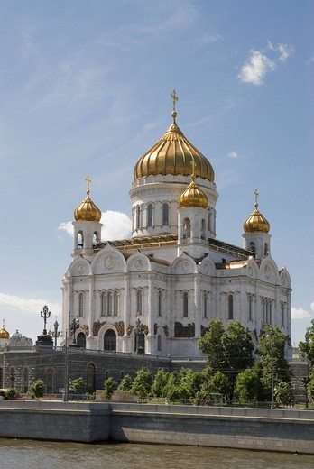 Stock Photo: 1848-542695 Christ the Saviour cathedral, Moscow, Russia