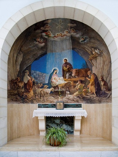 Stock Photo: 1848-54302 Altar, Shepherds´ Field Church in Bethlehem, West Bank, Palestine, Israel, Middle East