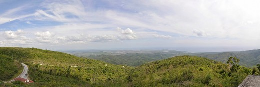 Panoramic view, Topes de Collantes, Cuba, Caribbean, Central America : Stock Photo