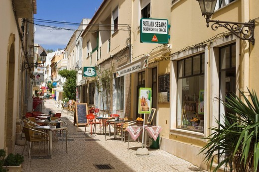 Lane in the historic town centre, Silves, Algarve, Portugal, Europe : Stock Photo