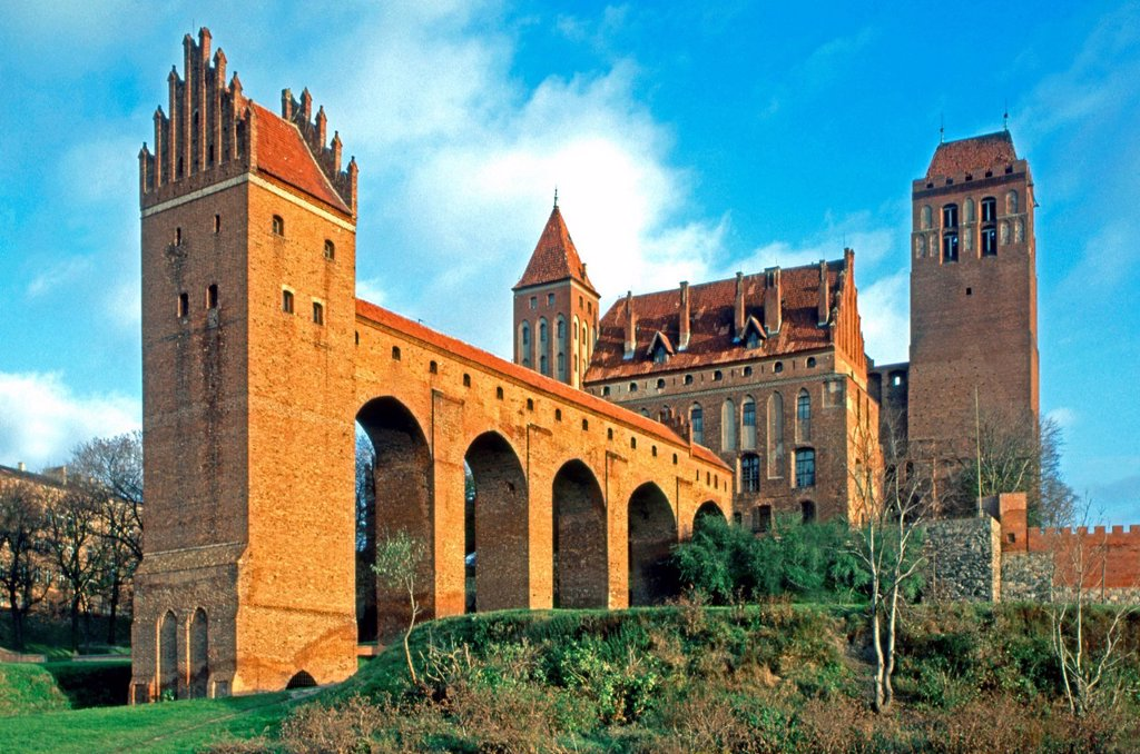 Bishop´s Castle with Danzker, Marienwerder, Kwidzyn, Mazury, Poland, Europe : Stock Photo