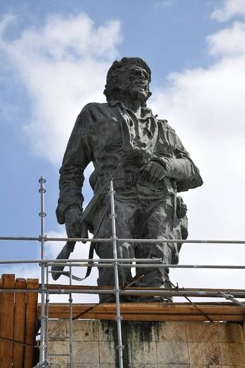 Che Guevara Statue, Santa Clara, Cuba, Caribbean, Central America : Stock Photo