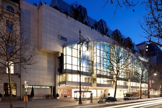 Wertheimhaus building, Karstadt department store, Kurfuerstendamm street, Charlottenburg district, Berlin, Germany, Europe : Stock Photo
