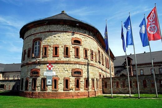 Stock Photo: 1848-544259 Reduit, part of the mediaeval fort in Mainz_Kastel district, Wiesbaden, Hesse, Germany, Europe