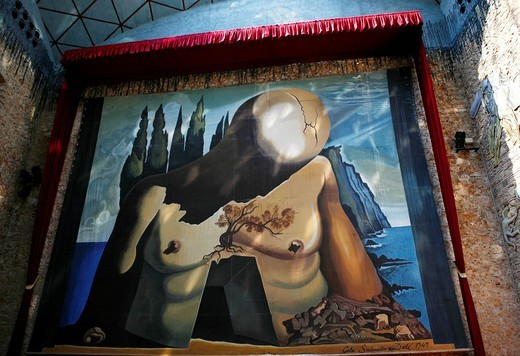 Stock Photo: 1848-544343 Painting in the Dali Museum, Teatro_Museo Dalí, Figueres, Girona, Catalonia, Spain, Europe
