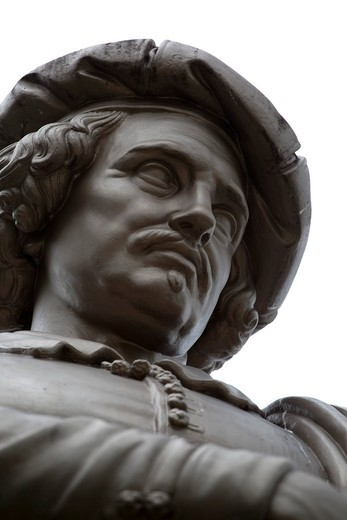 Stock Photo: 1848-544607 Statue of the painter Rembrandt, Rembrandtsplein, Amsterdam, Holland, Netherlands, Europe
