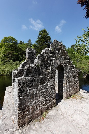 Stock Photo: 1848-545404 Monk´s Fishing House, Cong Abbey, County Mayo and Galway, Connacht, Republic of Ireland, Europe