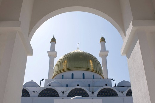 Stock Photo: 1848-545676 Islamic Center and Nur_Astana Mosque, Astana, Kazakhstan, Central Asia