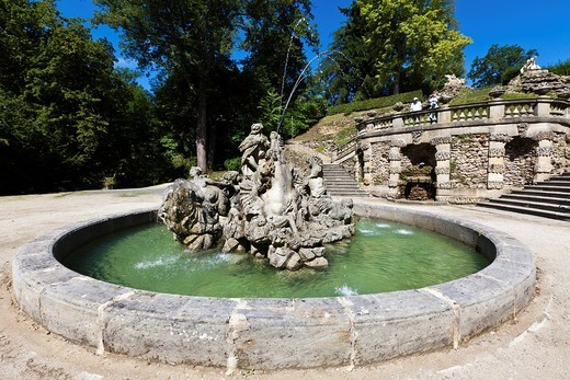 Schloss Fantaisie palace gardens, Bayreuth, Upper Franconia, Bavaria, Germany, Europe : Stock Photo