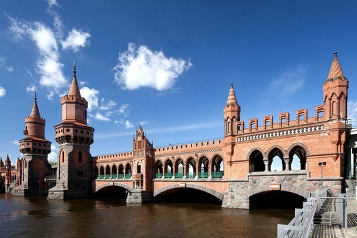Oberbaumbruecke Bridge, Kreuzberg, Friedrichshain, Berlin, Germany, Europe : Stock Photo