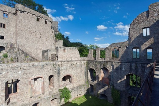 Burgruine Hohenbaden castle ruins, Baden Baden, Baden_Wuerttemberg, Germany, Europe : Stock Photo