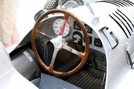 Stock Photo: 1848-546317 Dashboard, Auto Union D_Type Grand Prix Racing Car, built in 1939, true and original replica, Ennstal Classic 2010 Vintage Car Rally, Groebming, Styria, Austria, Europe