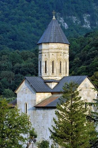 Stock Photo: 1848-546386 Abbey Church, Barakoni, Racha, Georgia, Western Asia