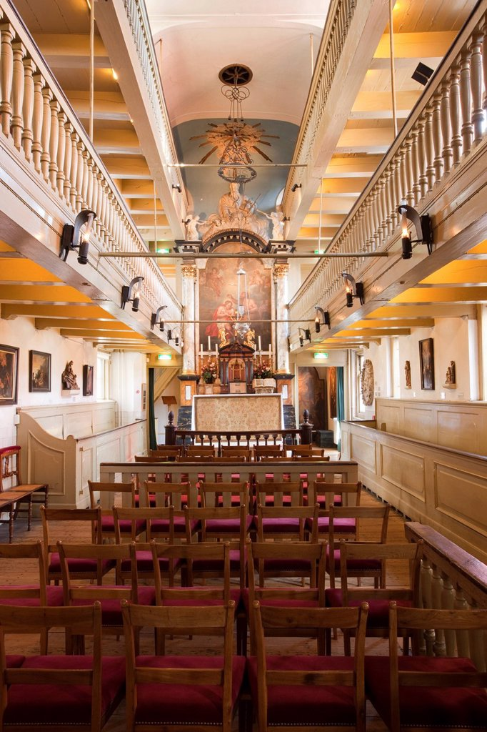 Amstelkring Museum, Ons Lieve Heer op Solder house church, clandestine church, Amsterdam, Holland, Netherlands, Europe : Stock Photo