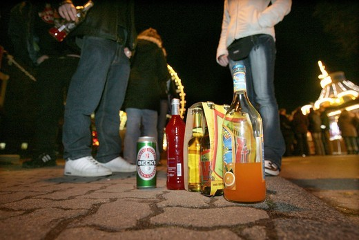 Various spirits of young people on a festival : Stock Photo