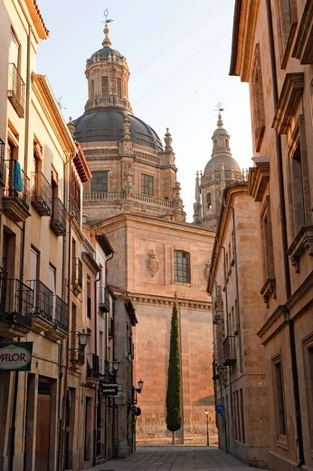 Stock Photo: 1848-546856 Calle Libreros, Clerecía Church, Salamanca, Old Castile, Castilla_León, Spain, Europe