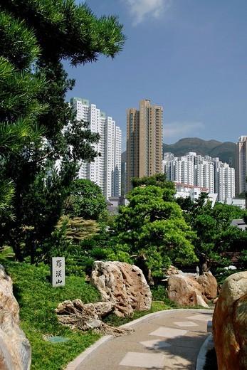 Chi Lin Botanical Garden, Nan Lian Garden, Hong Kong, China, Asia : Stock Photo
