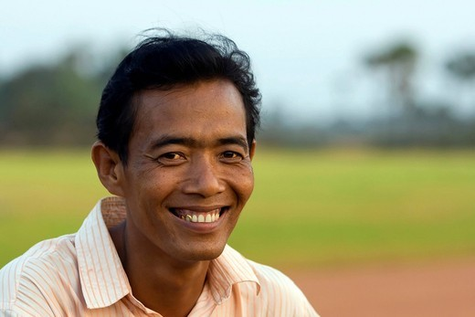 Stock Photo: 1848-548487 Man, laughing, portrait, Khmer, Cambodia, Southeast Asia
