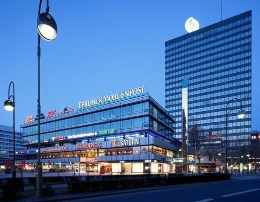 Stock Photo: 1848-549945 Europa Center shopping mall, Charlottenburg district, Berlin, Germany, Europe