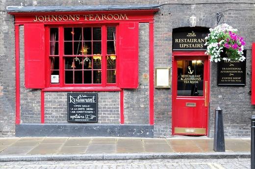 Facade, JOHNSONS TEAROOM, London, England, United Kingdom, Europe : Stock Photo