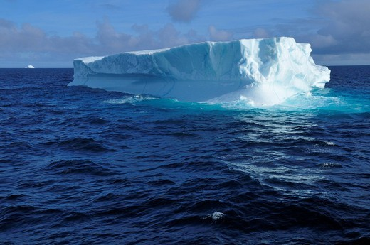 Iceberg at Davis Strait off Baffin Island, Nunavut, Canada, Arctic : Stock Photo