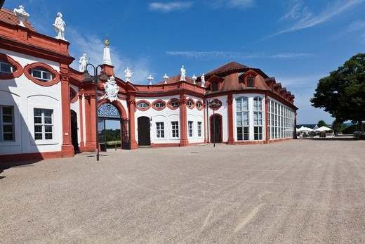 Stock Photo: 1848-550894 Entrance and orangery of Seehof Palace and Park, Memmelsdorf, Upper Franconia, Bavaria, Germany, Europe