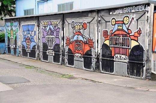 Graffiti, Leipzig, Saxony, Germany, Europe : Stock Photo