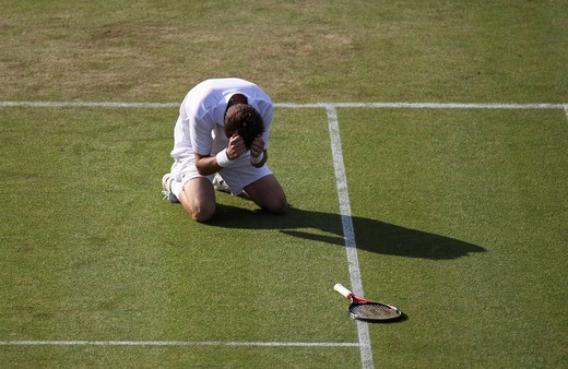 Nicolas Mahut, France, Wimbledon 2010, ITF Grand Slam tournament, Wimbledon, England, United Kingdom, Europe : Stock Photo