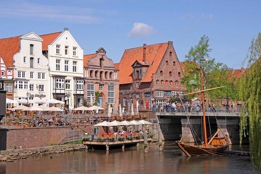 Stock Photo: 1848-551566 Am Stintmarkt, Salzewer, Lueneburg, Lower Saxony, Germany, Europe
