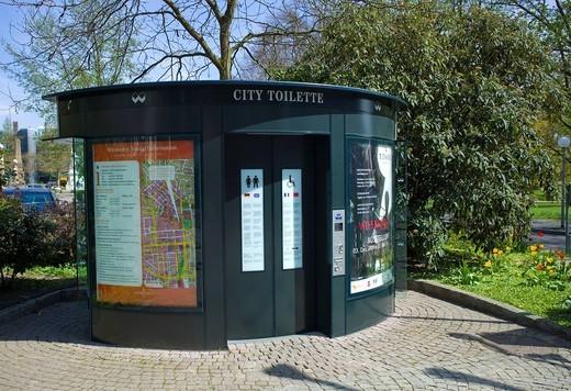 Stock Photo: 1848-551743 Public toilet, Wiesbaden, Hessen, Germany, Europe