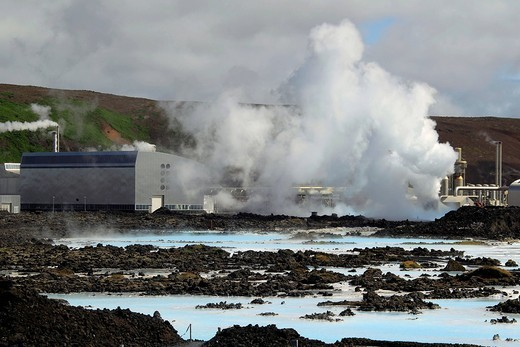 Blue Lagoon geothermal spa, Iceland, Europe : Stock Photo