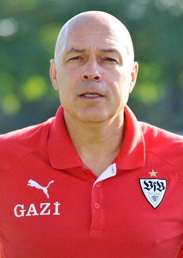 Stock Photo: 1848-551829 Coach Christian Gross, VfB Stuttgart football club