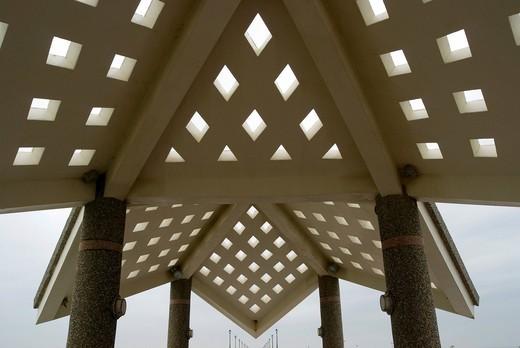 Stock Photo: 1848-552032 Polygon pavilion, detail