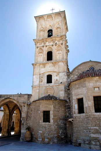 Greek Orthodox Christianity, Lazarus Church, Agios Lazaros church, steeple, Larnaca, Southern Cyprus, Republic of Cyprus, Mediterranean Sea, Europe : Stock Photo