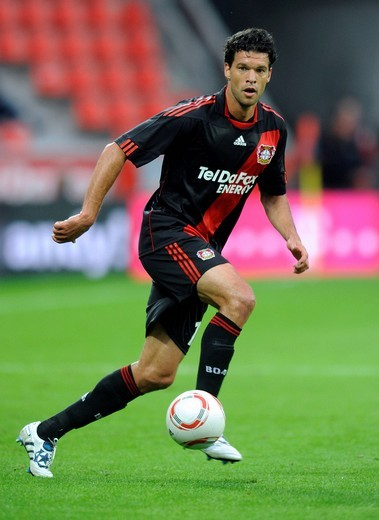 Stock Photo: 1848-552270 Michael Ballack, qualifying football match for UEFA Champions League 2010/2011, Bayer Leverkusen 3, Tavriya Simferopol 0