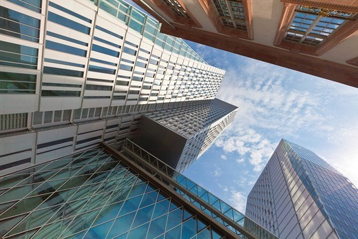 Stock Photo: 1848-552588 The office tower project PalaisQuartier and MyZeil shopping mall, Thurn and Taxis Platz, Frankfurt, Hesse, Germany, Europe
