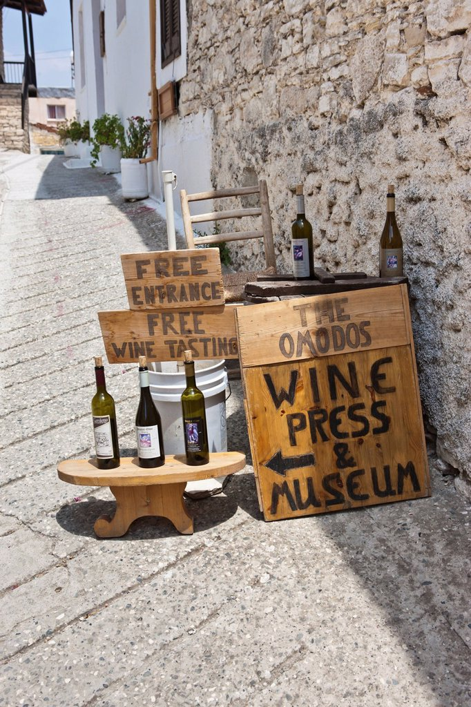 Stock Photo: 1848-553002 Wine sales in Omodos, Troodos Mountains, Central Cyprus