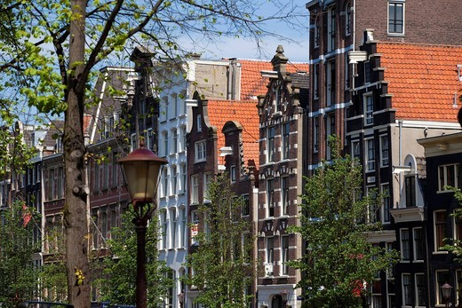 Stock Photo: 1848-553839 Monumental houses on the Herengracht, Amsterdam, Holland, Netherlands, Europe