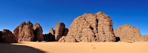 Stock Photo: 1848-553845 Sandstone rock formation at Tikobaouine, Tassili n´Ajjer National Park, Unesco World Heritage Site, Wilaya Illizi, Algeria, Sahara, North Africa
