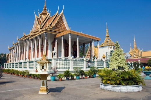 Stock Photo: 1848-554122 Silver Pagoda, Royal Palace, Phnom Penh, Cambodia, Indochina, Southeast Asia, Asia