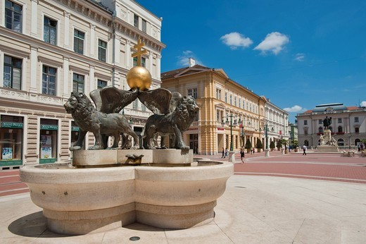 Klauzal ter, Klaus square, Szeged, Hungary, Europe : Stock Photo
