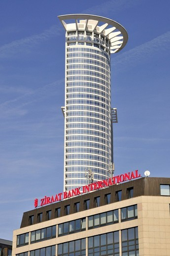 Ziraat Bank International, Financial District, Frankfurt, Hesse, Germany, Europe : Stock Photo