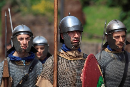 Historical procession, Rome, Italy, Europe : Stock Photo