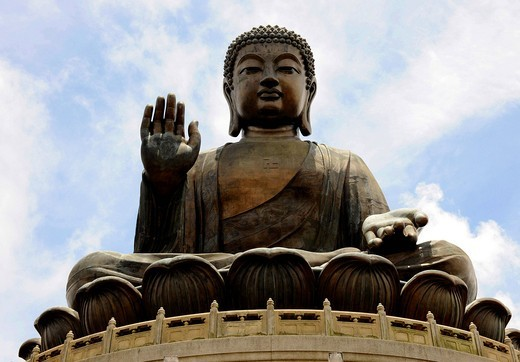 Stock Photo: 1848-554949 Tian Tan Buddha or Big Buddha statue, Hong Kong, China, Asia