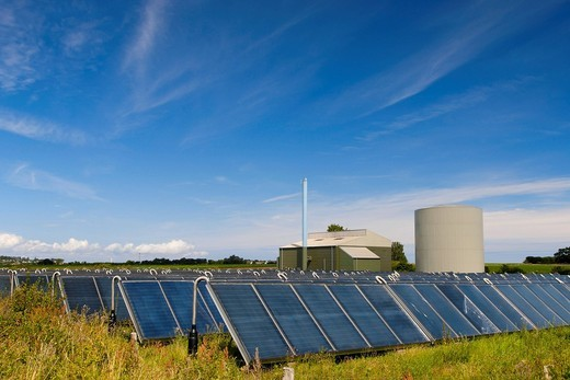 Stock Photo: 1848-555214 Solar district heating plant, Nordby, Samsoe, Denmark, Europe