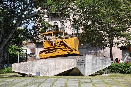 Monumento al Tren Blindado, Santa Clara, Cuba, Caribbean, Central America : Stock Photo