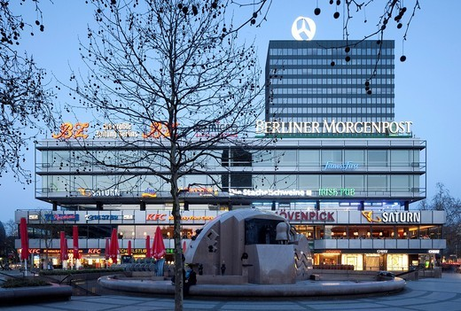 Europa Center shopping mall, Charlottenburg district, Berlin, Germany, Europe : Stock Photo