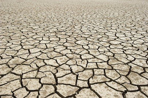 Stock Photo: 1848-556457 Parched lake, Andalucia, Spain, Europe