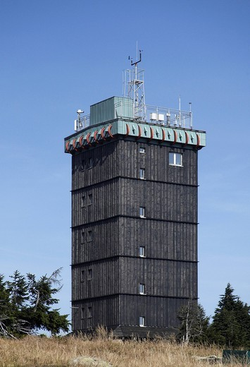 Stock Photo: 1848-556525 Brockenhaus, former Soviet listening post of the Ministry for State Security, East Germany, Stasi, Brocken, Harz, Saxony_Anhalt, Germany, Europe